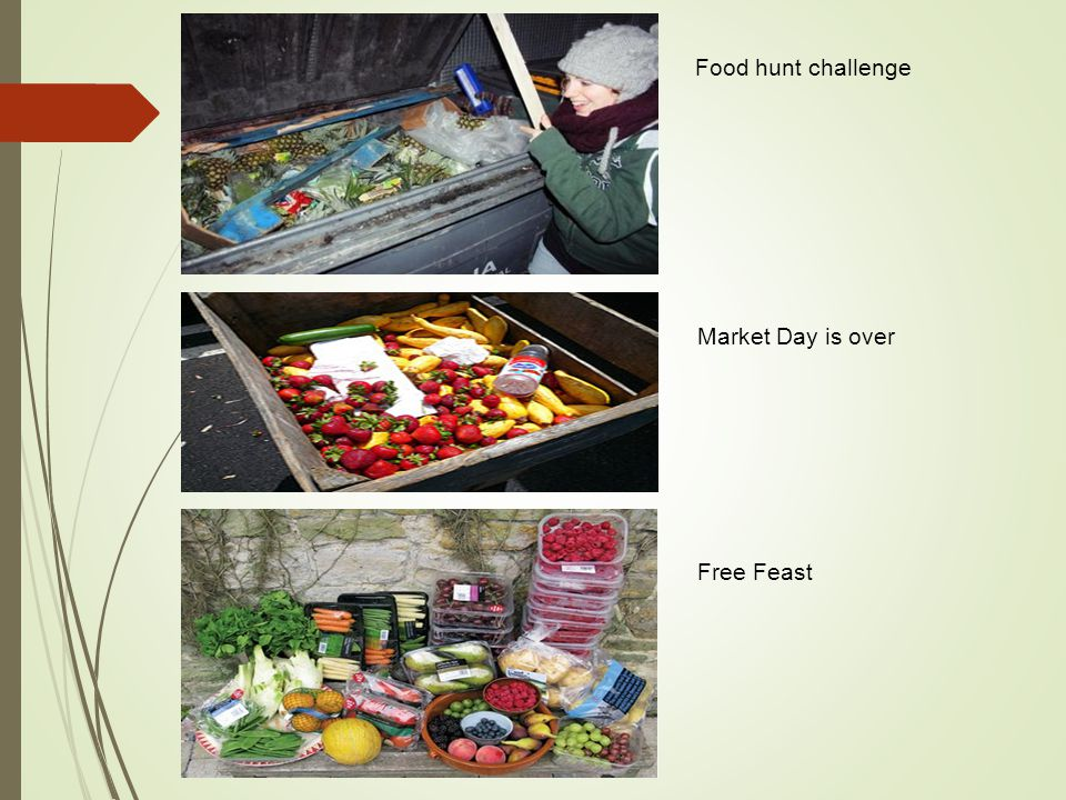 Food hunt challenge Market Day is over Free Feast