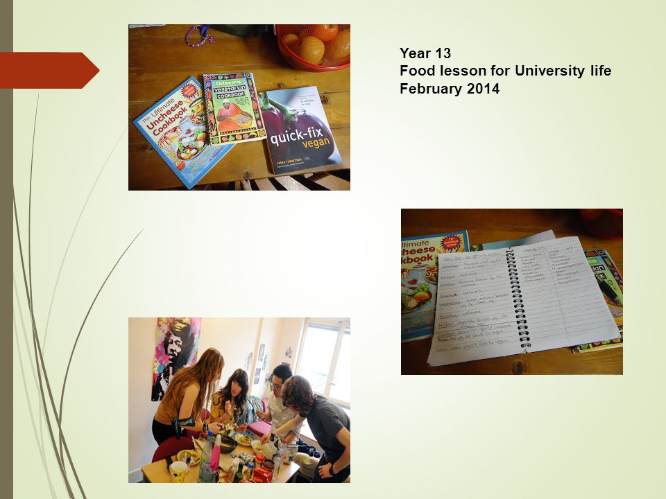 Year 13 Food lesson for University life February 2014