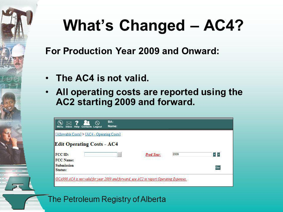 What's Changed – AC4 For Production Year 2009 and Onward: