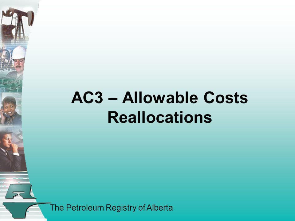 AC3 – Allowable Costs Reallocations