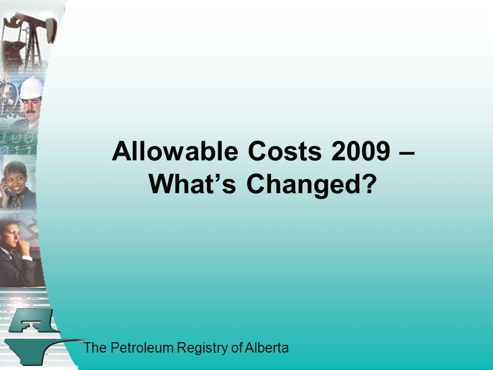 Allowable Costs 2009 – What's Changed