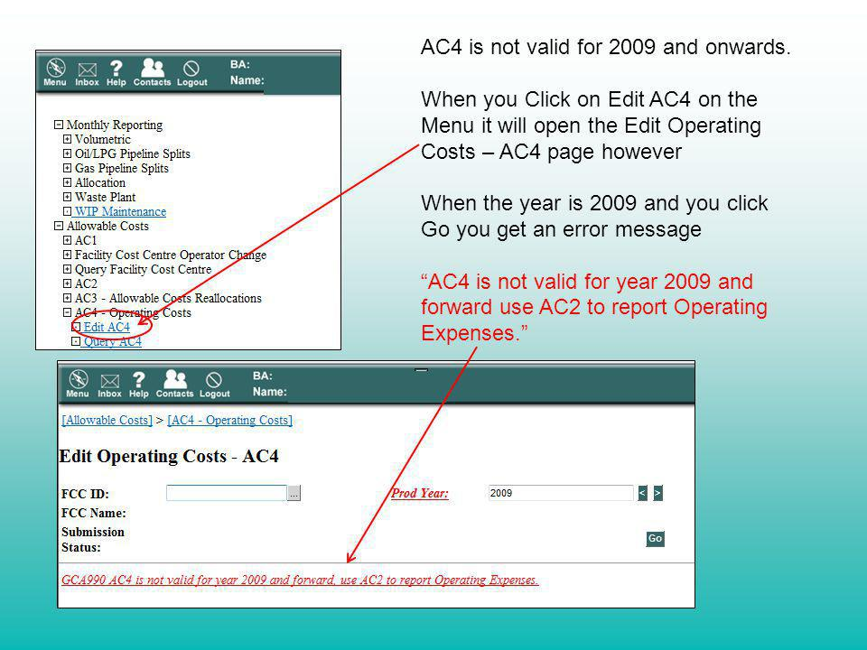 AC4 is not valid for 2009 and onwards.