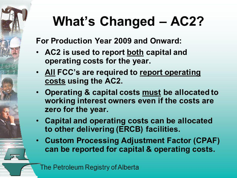 What's Changed – AC2 For Production Year 2009 and Onward:
