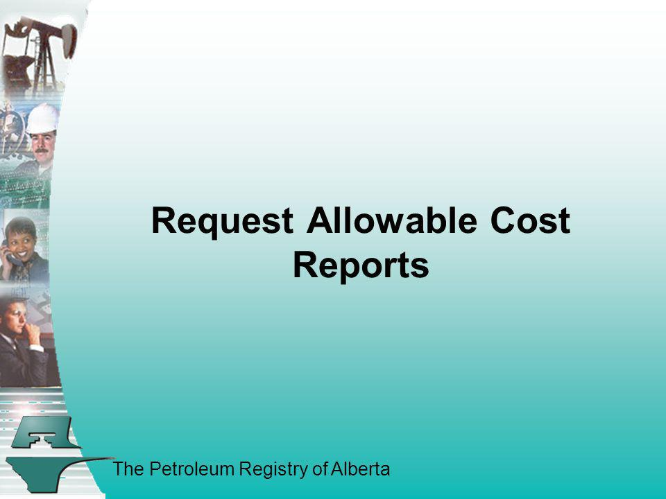 Request Allowable Cost Reports