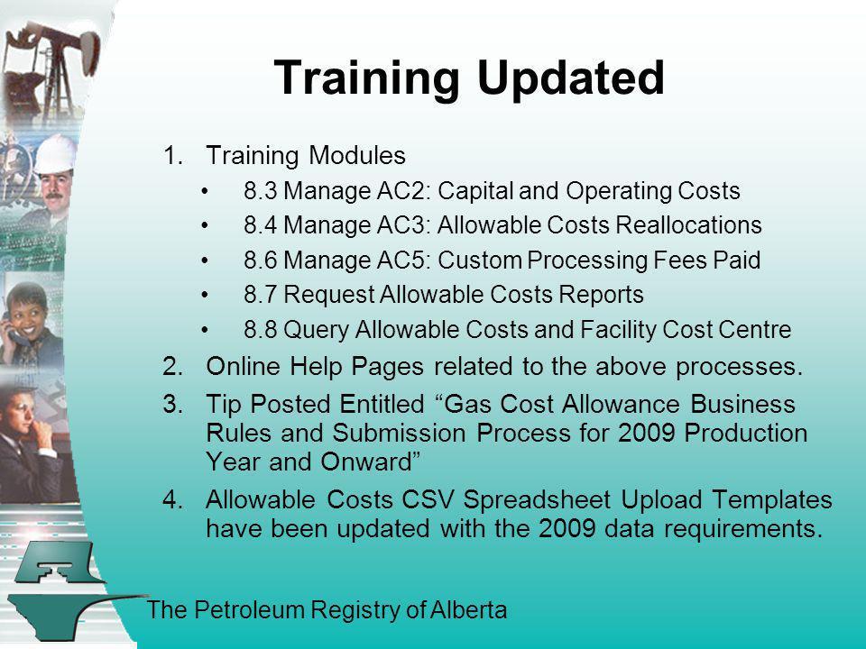 Training Updated Training Modules