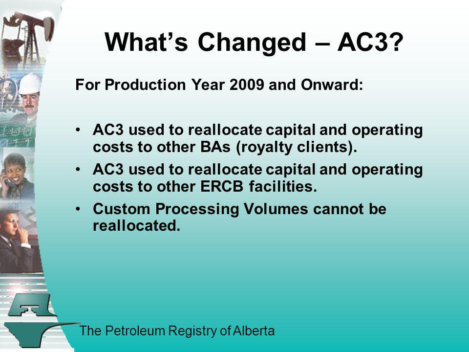 What's Changed – AC3 For Production Year 2009 and Onward: