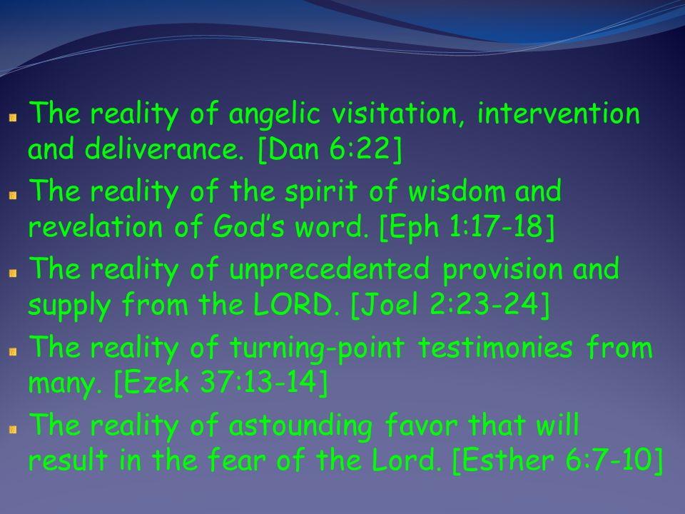 The reality of angelic visitation, intervention and deliverance
