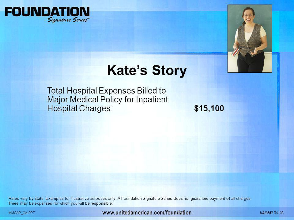 Kate's Story Total Hospital Expenses Billed to