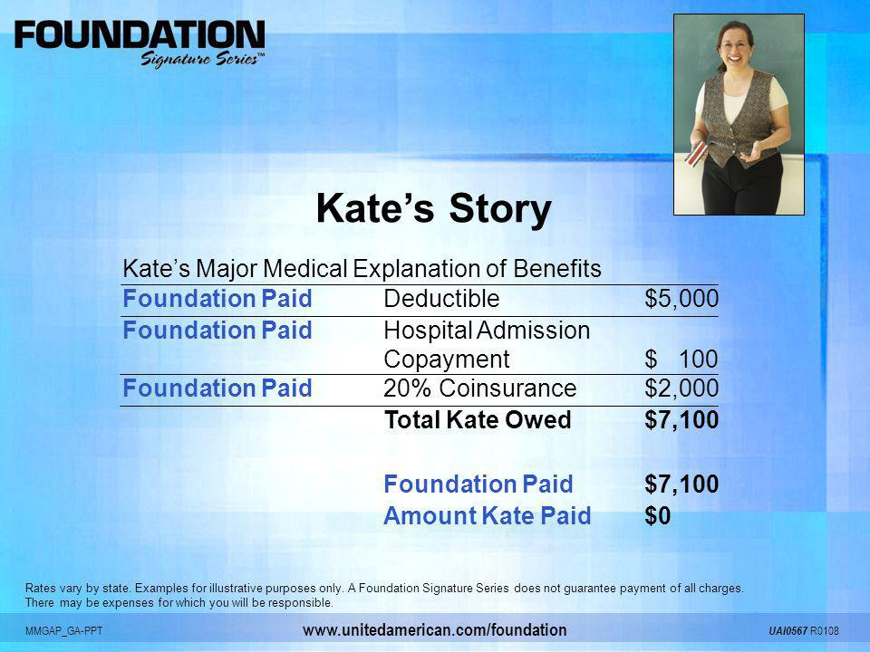 Kate's Story Kate's Major Medical Explanation of Benefits