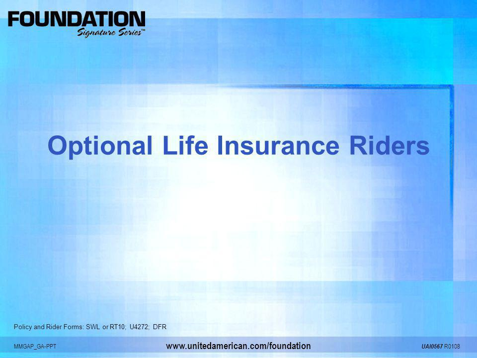 Optional Life Insurance Riders