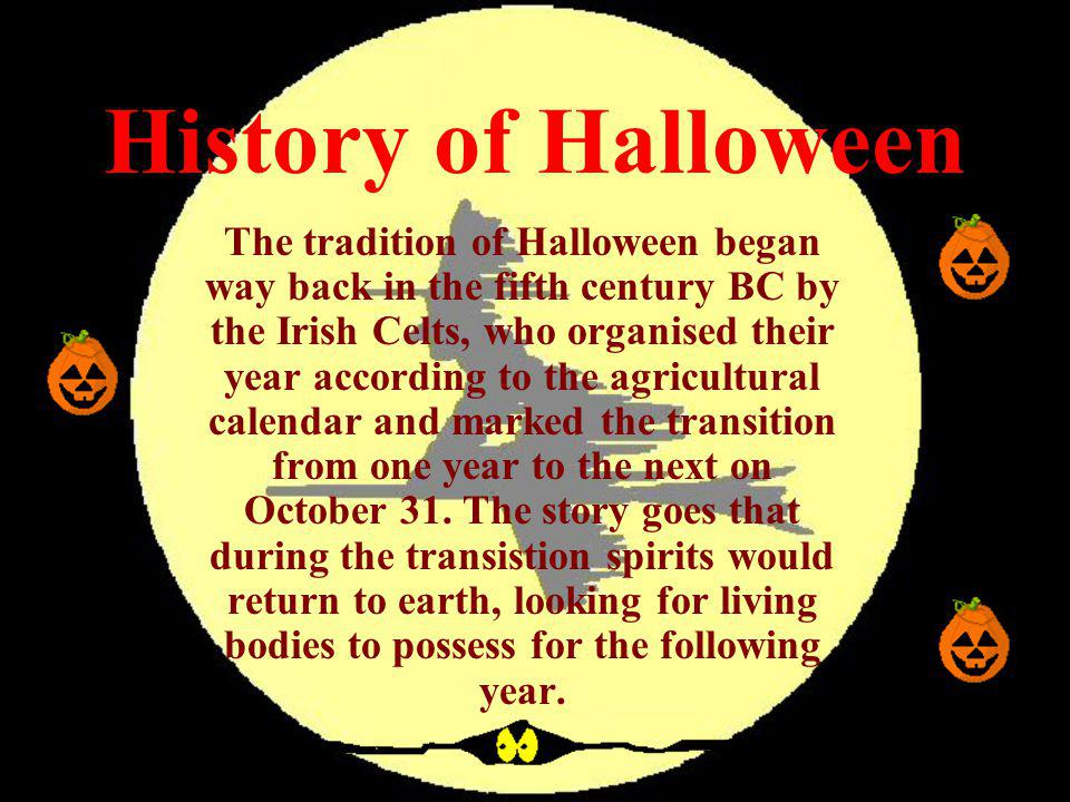 history of halloween - The Tradition Of Halloween