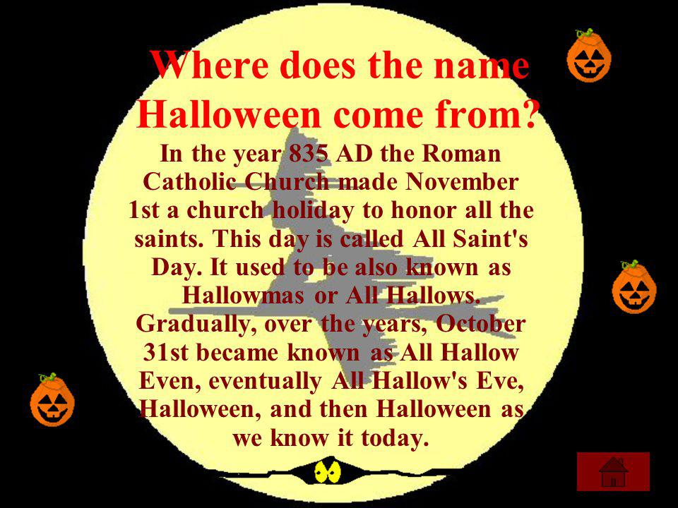 5 where does the name halloween come from - Where Did The Holiday Halloween Come From