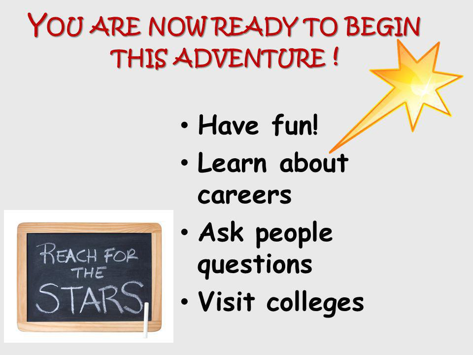 You are now ready to begin this adventure !