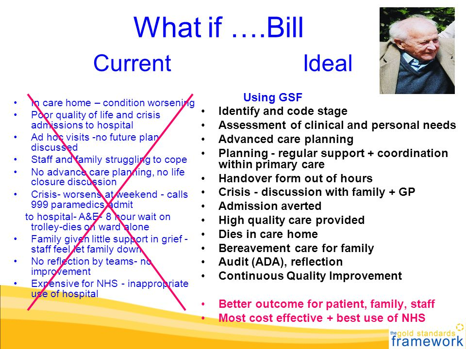 What if ….Bill Current Ideal