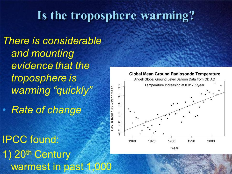Is the troposphere warming