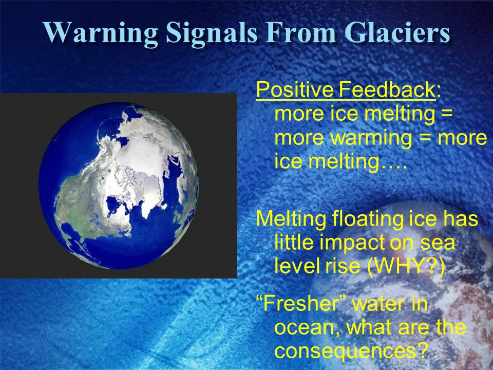 Warning Signals From Glaciers