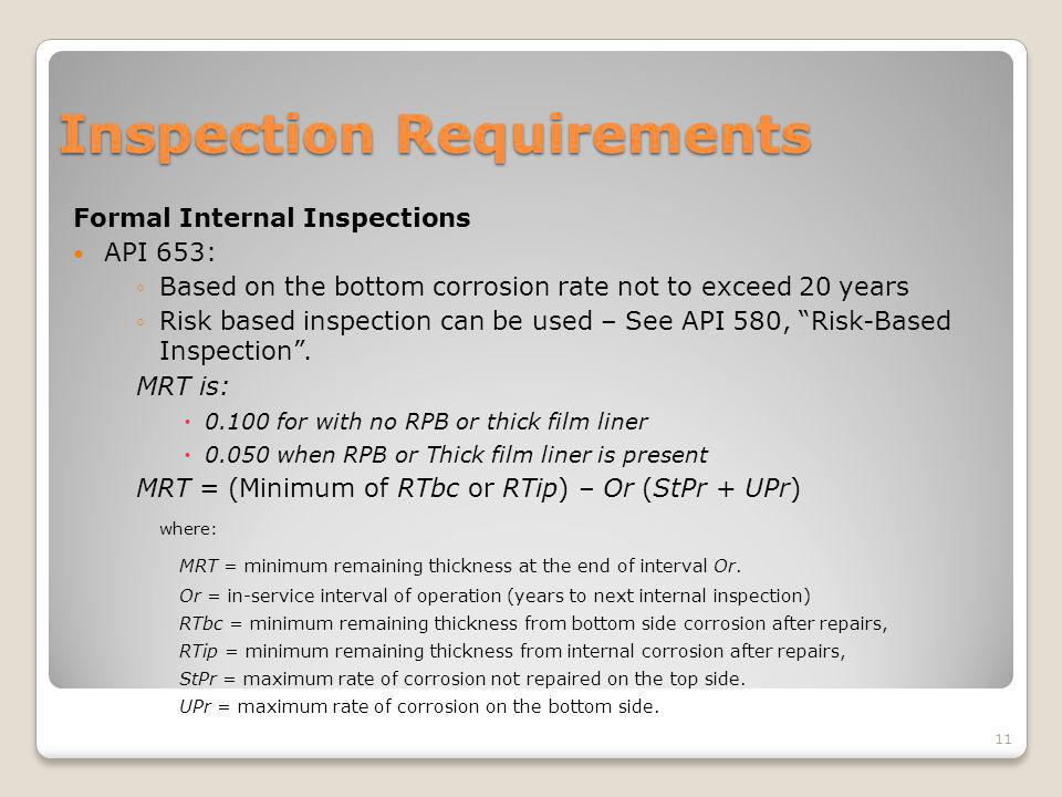 Inspection Requirements