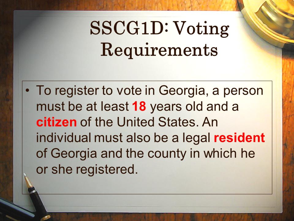 SSCG1D: Voting Requirements