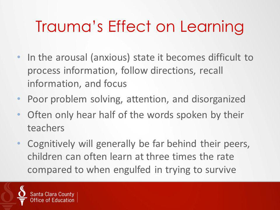 Trauma's Effect on Learning