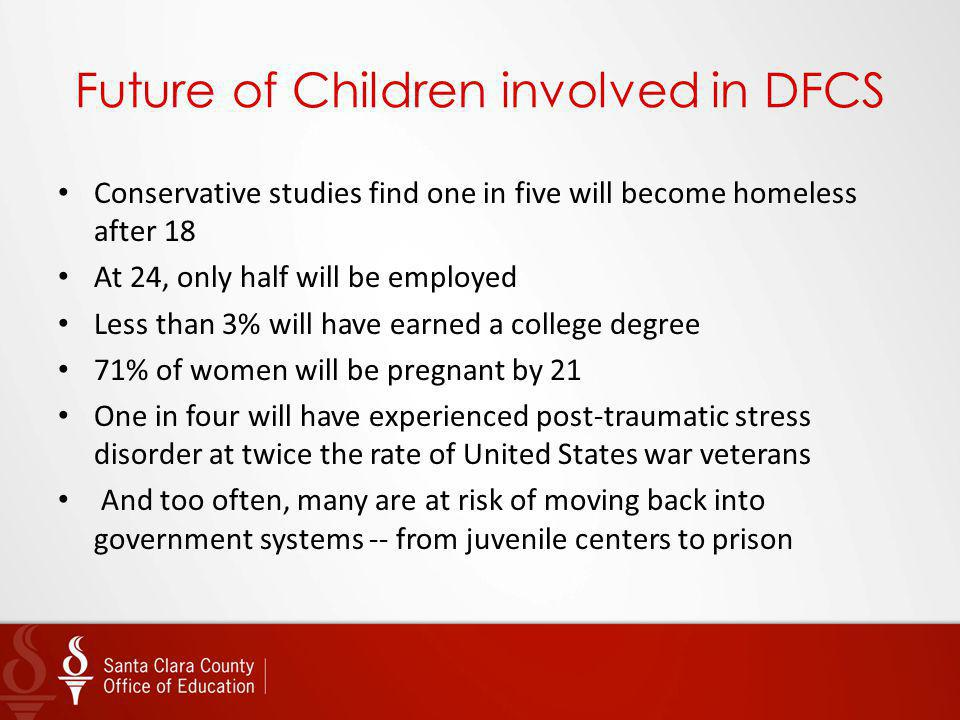 Future of Children involved in DFCS