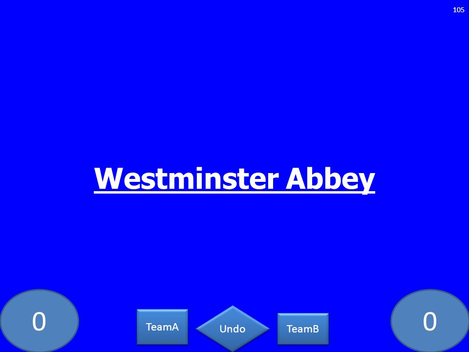 Westminster Abbey GE-2093-LAW TeamA TeamB Undo