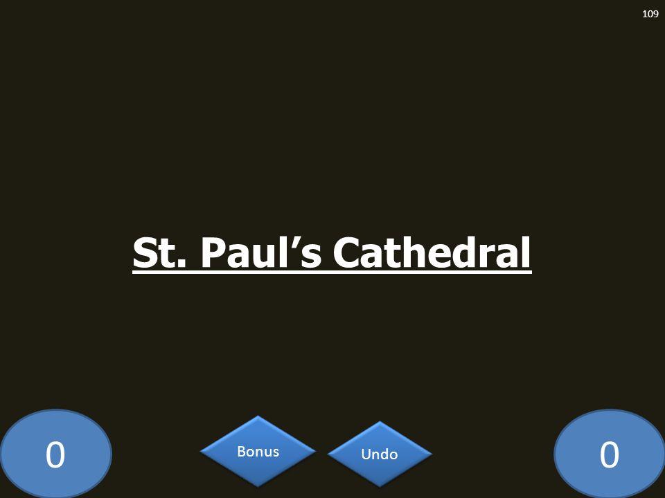 St. Paul's Cathedral GE-2093-LAW Undo Bonus