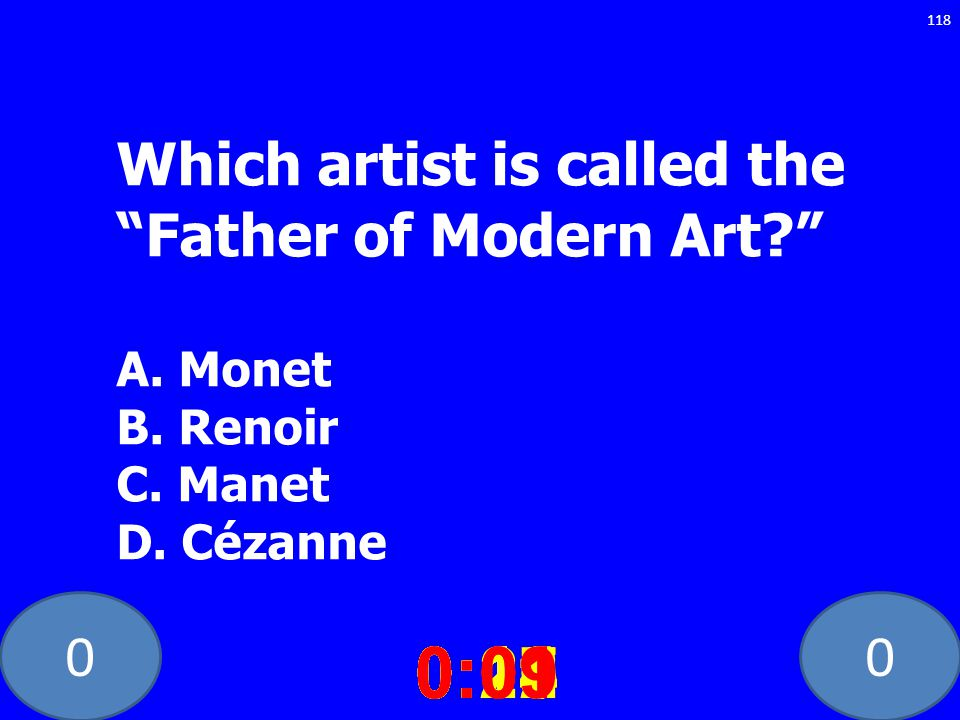 Which artist is called the Father of Modern Art. A. Monet B