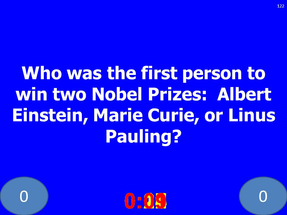 Who was the first person to win two Nobel Prizes: Albert Einstein, Marie Curie, or Linus Pauling