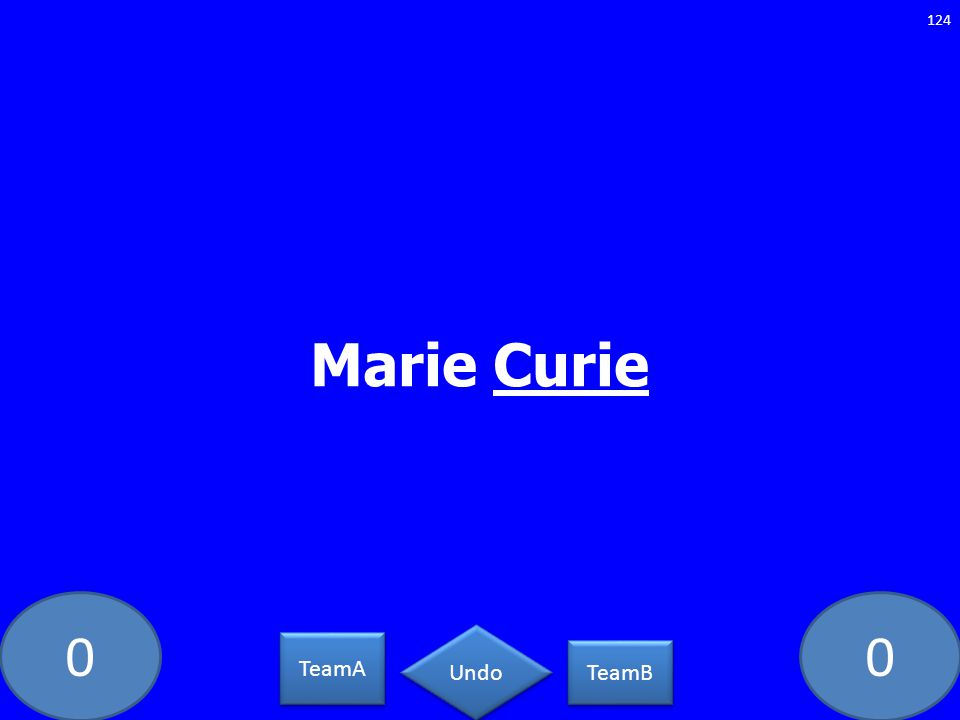 Marie Curie PC-5462-LAW TeamA TeamB Undo