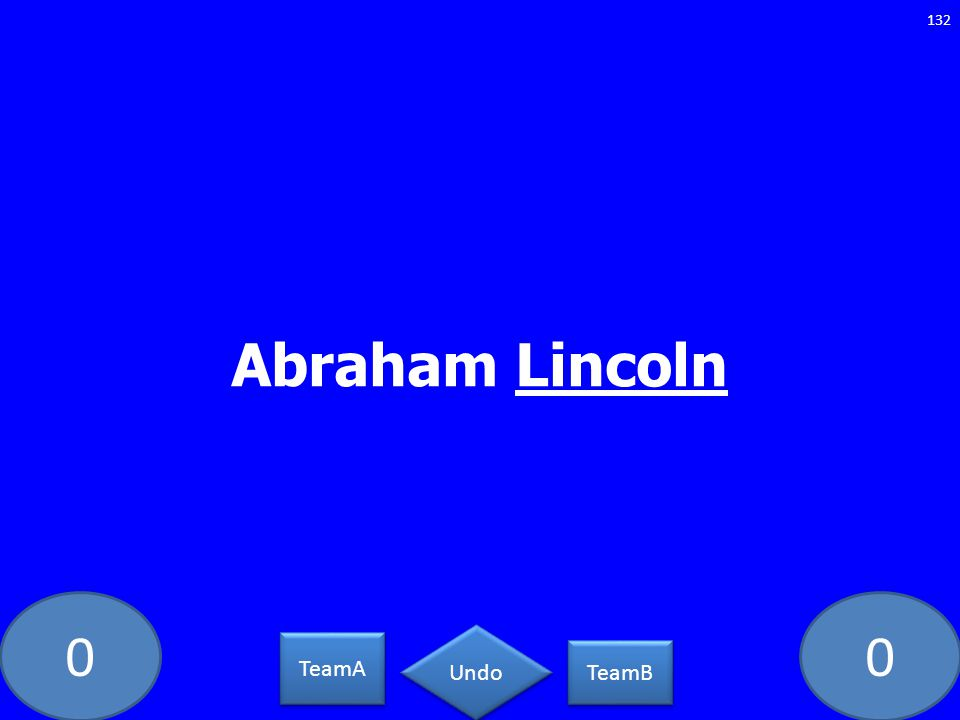 Abraham Lincoln GE-1283-LAW TeamA TeamB Undo