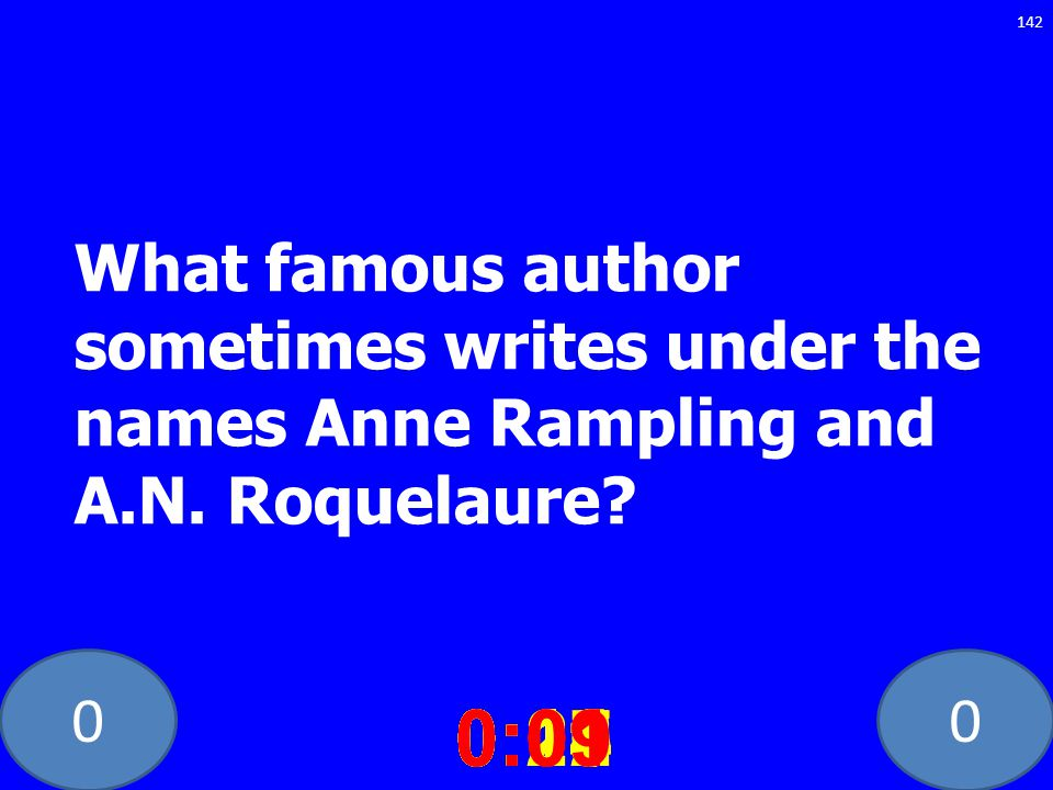 What famous author sometimes writes under the names Anne Rampling and A.N. Roquelaure