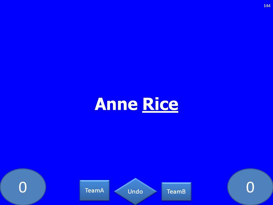 Anne Rice PC-5462-LAW TeamA TeamB Undo