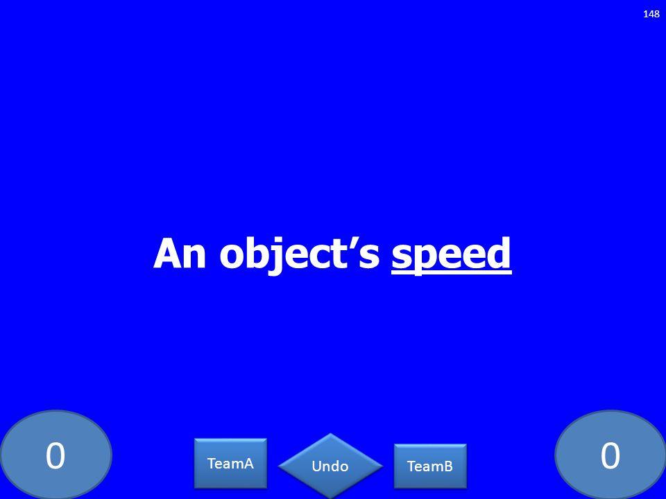 An object's speed PC-5462-LAW TeamA TeamB Undo