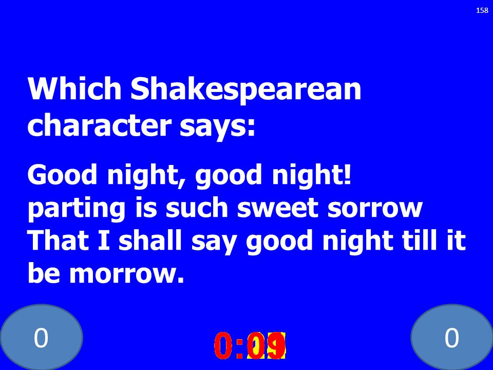 Which Shakespearean character says: Good night, good night
