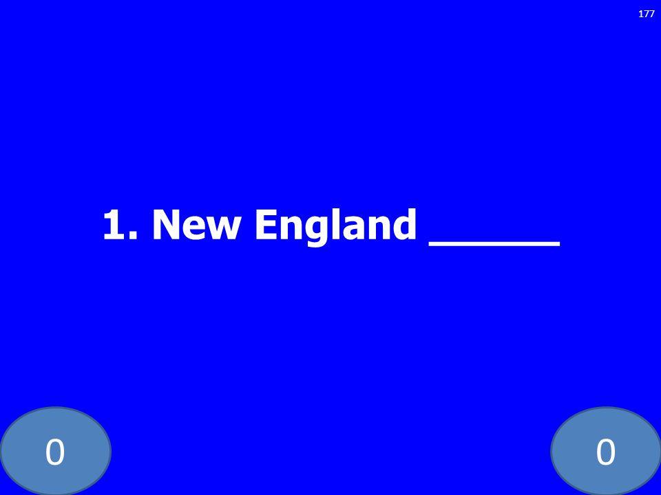 1. New England _____ GE-235-LAW