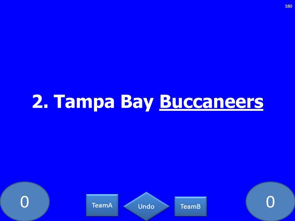 2. Tampa Bay Buccaneers GE-235-LAW TeamA TeamB Undo