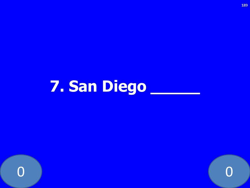 7. San Diego _____ GE-235-LAW