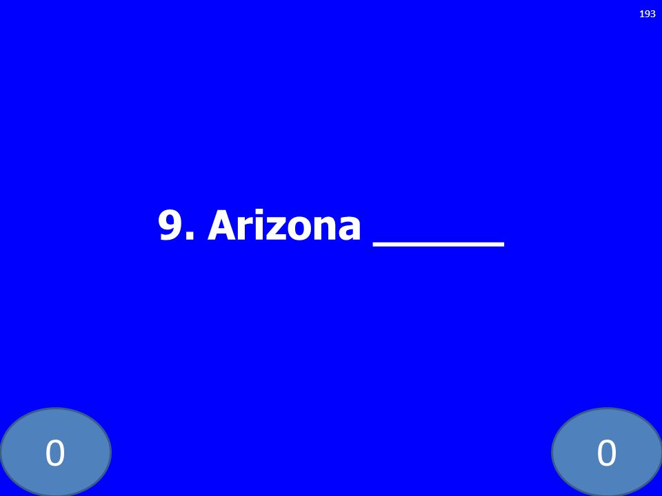 9. Arizona _____ GE-235-LAW