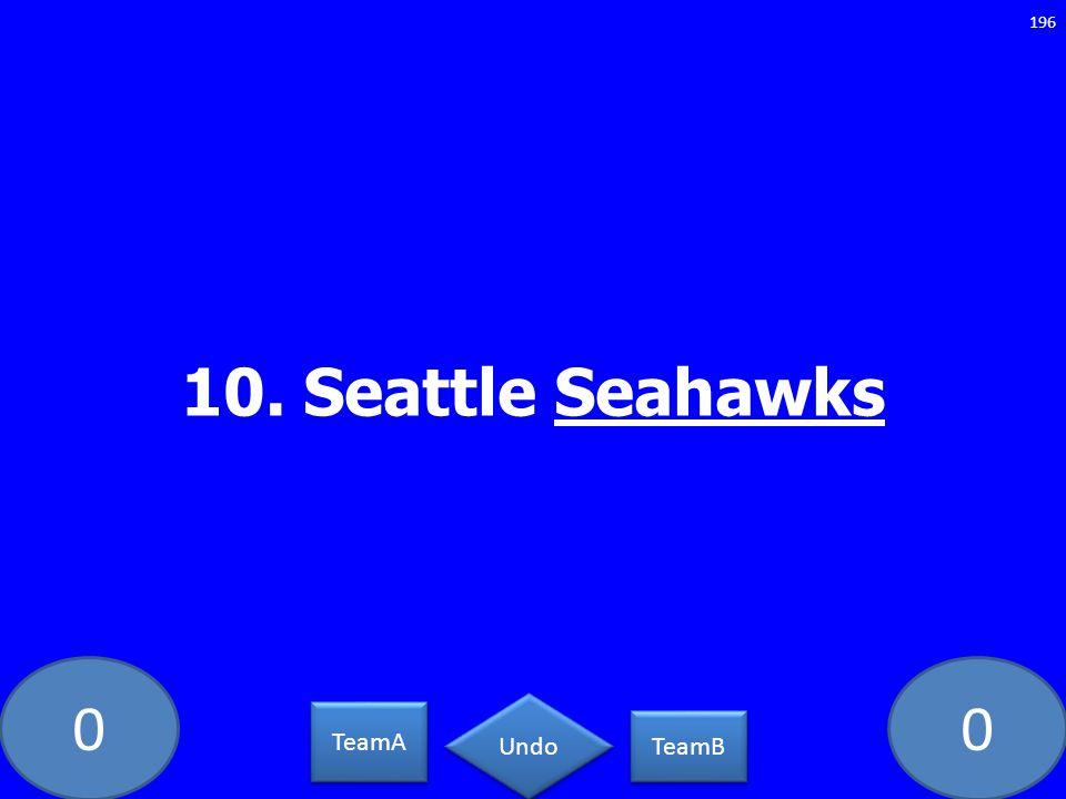 10. Seattle Seahawks GE-235-LAW TeamA TeamB Undo
