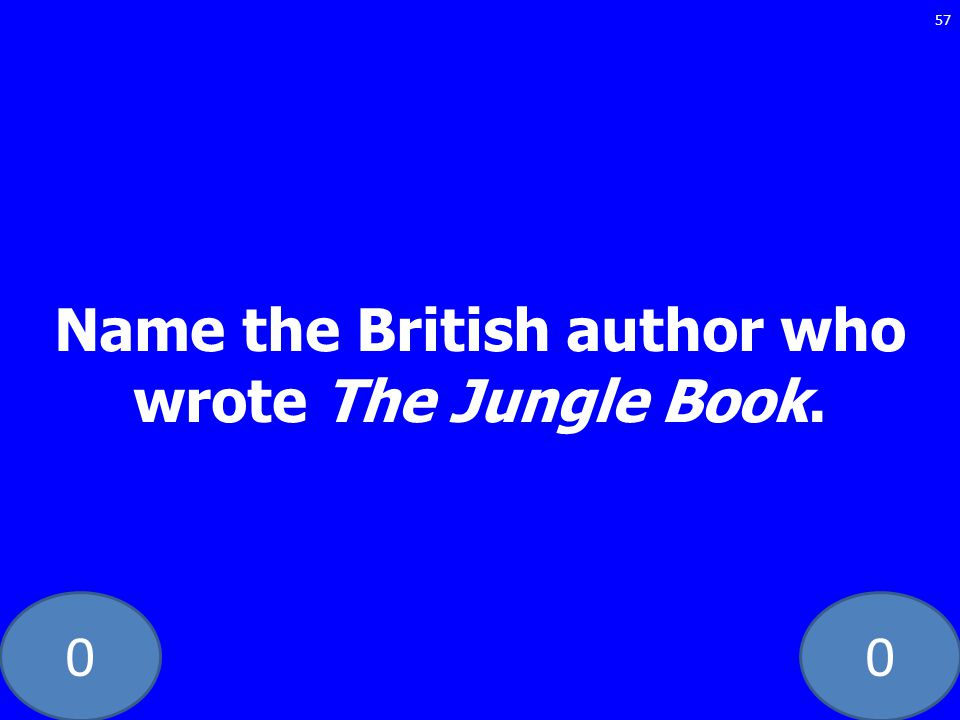 Name the British author who wrote The Jungle Book.