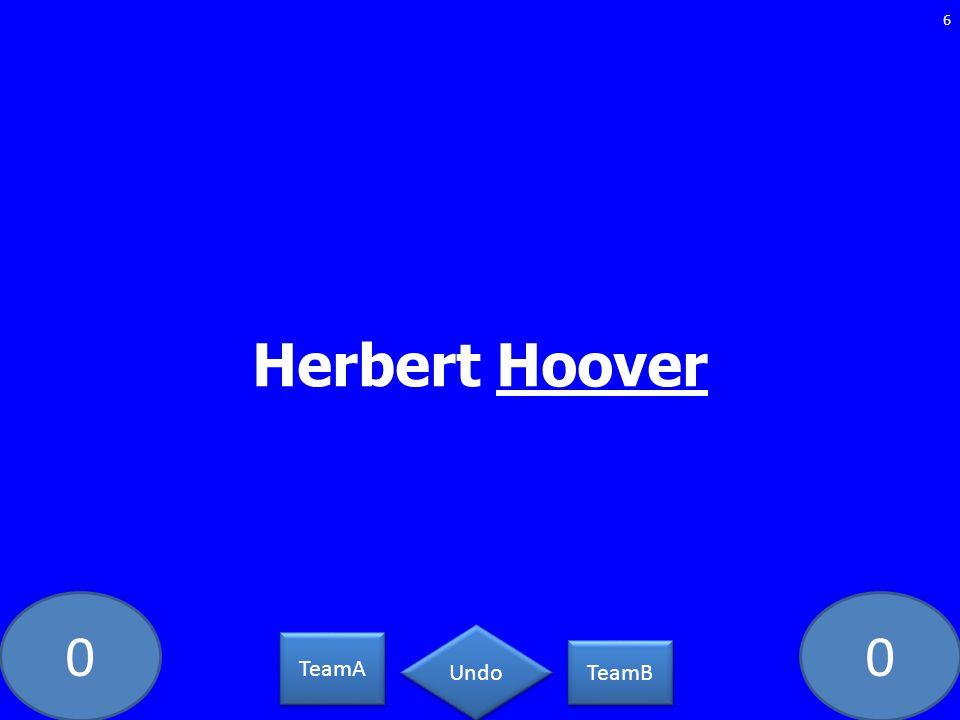 Herbert Hoover DS-36-LAW TeamA TeamB Undo