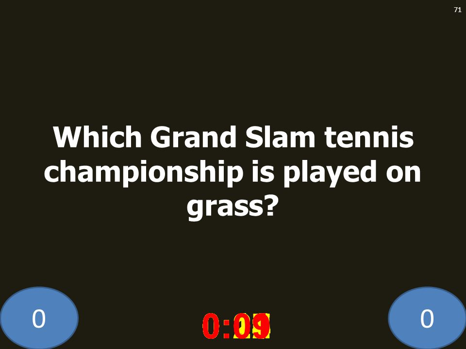 Which Grand Slam tennis championship is played on grass