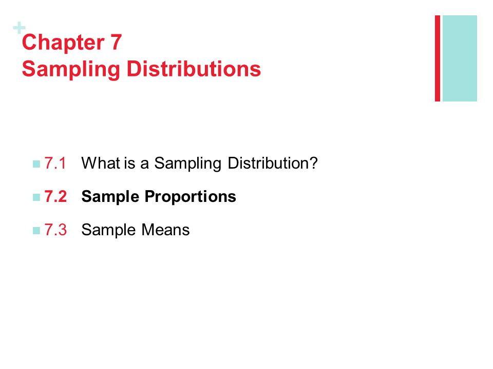 Chapter 7 Sampling Distributions