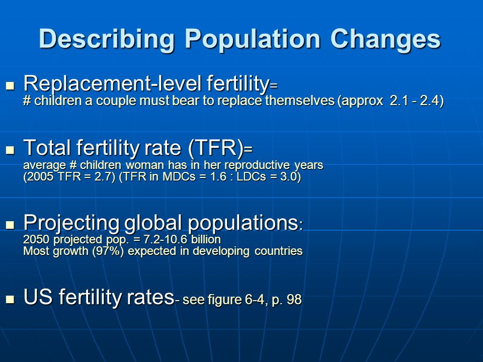 Describing Population Changes