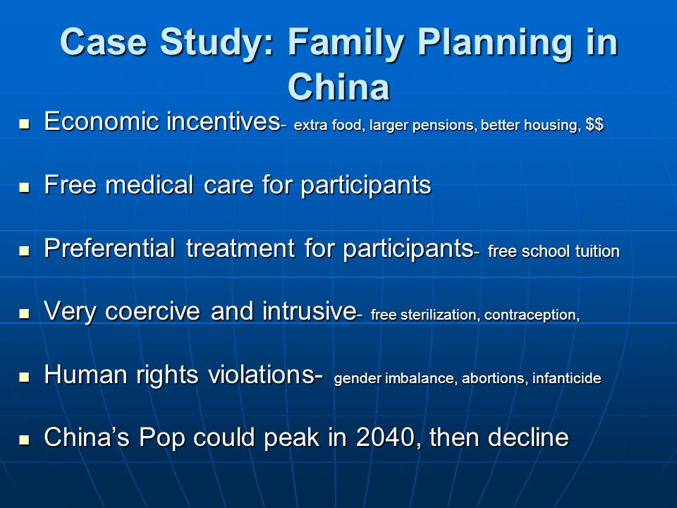Case Study: Family Planning in China
