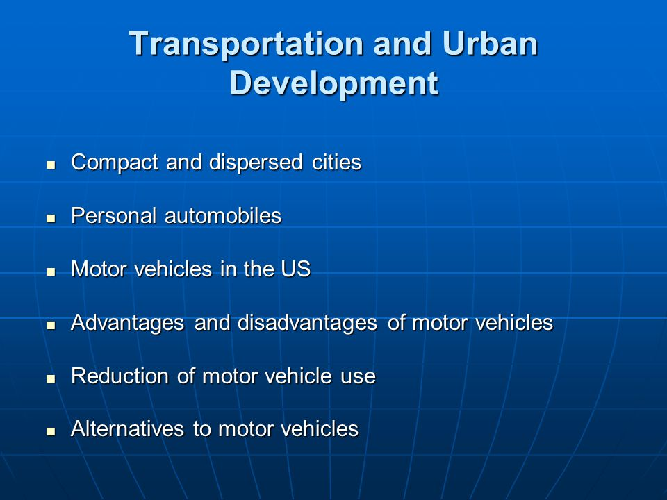 Transportation and Urban Development