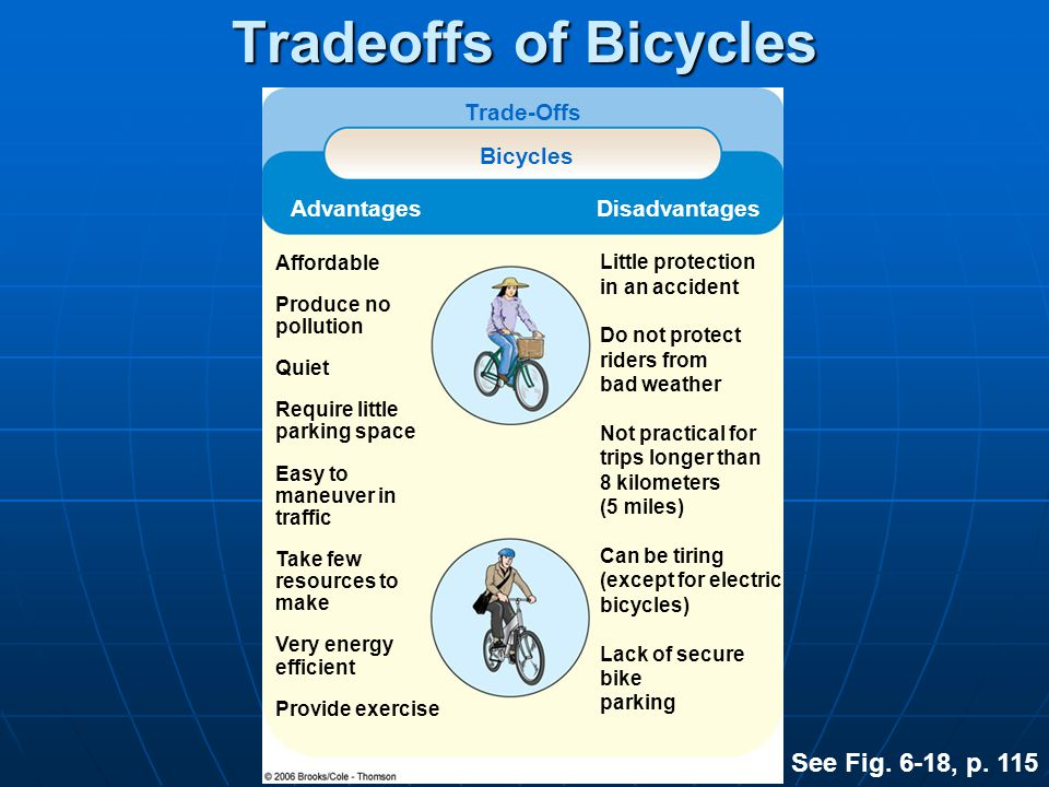 Tradeoffs of Bicycles See Fig. 6-18, p. 115 Trade-Offs Bicycles