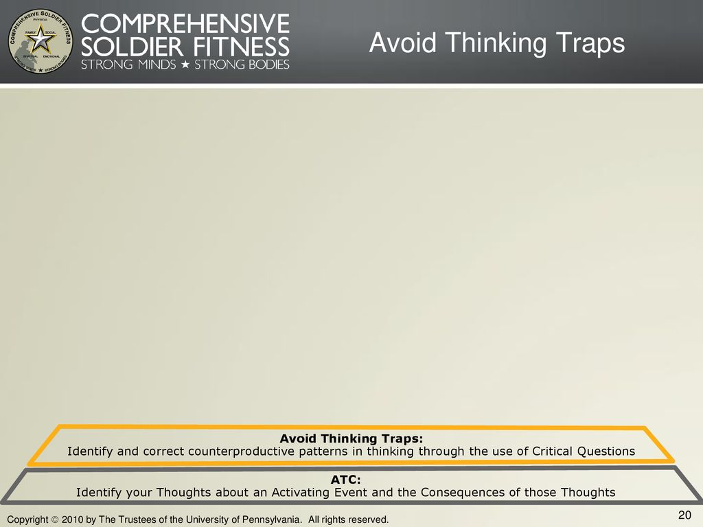 Avoid Thinking Traps Avoid Thinking Traps: