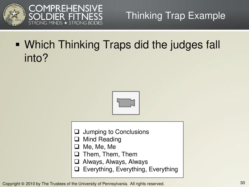 Which Thinking Traps did the judges fall into