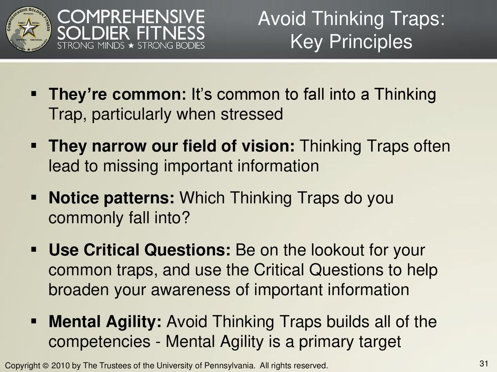 Avoid Thinking Traps: Key Principles